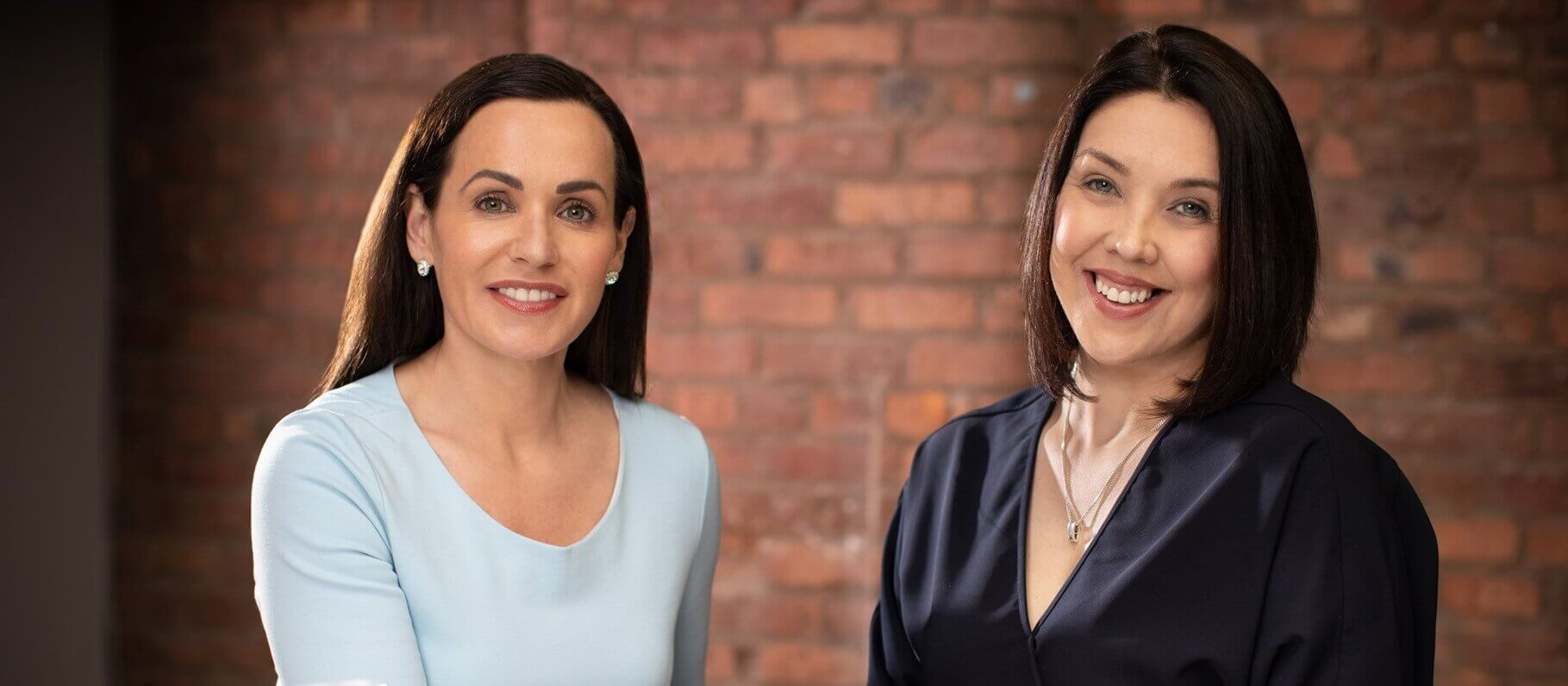 Amanda McAlister (left) with Caroline Bilous, McAlister Family Law